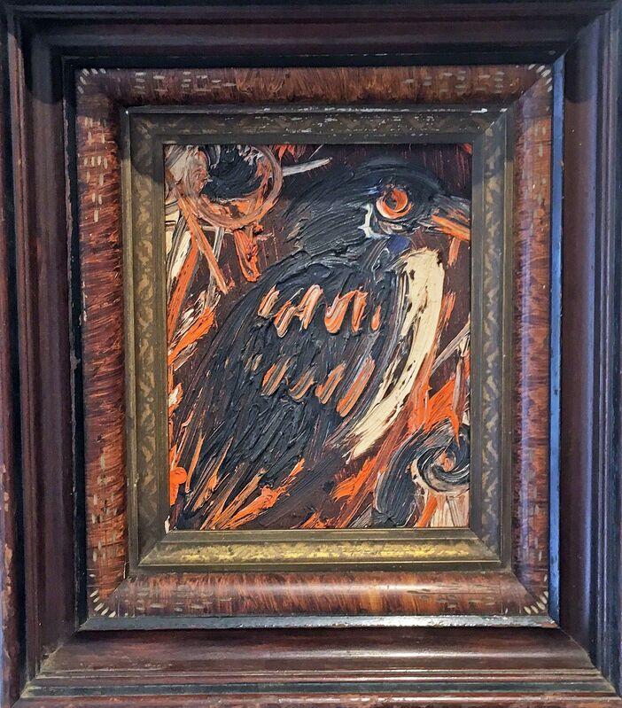 Hunt Slonem, 'Magpie Jay', 1992, Painting, Oil on panel, Madelyn Jordon Fine Art