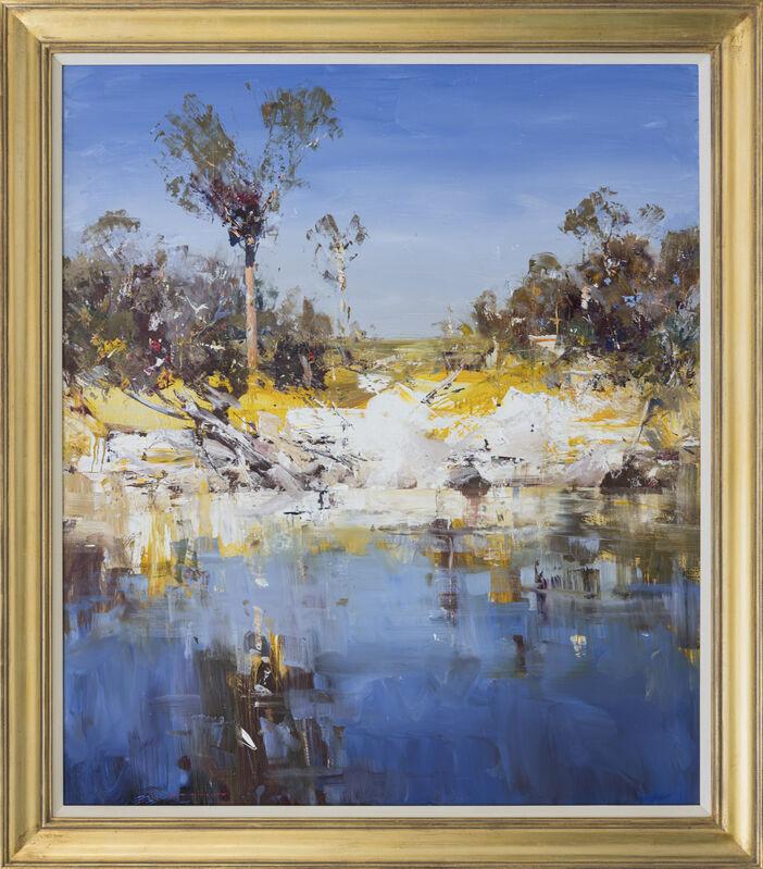 Ken Knight, 'Waterhole & Cockatoos', 2021, Painting, Oil on Board, Wentworth Galleries