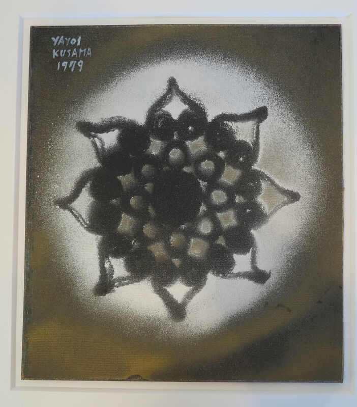 Yayoi Kusama, 'A Silvery Flower', 1979, Drawing, Collage or other Work on Paper, Spray paint on cardboard, IKON Ltd. Contemporary Art