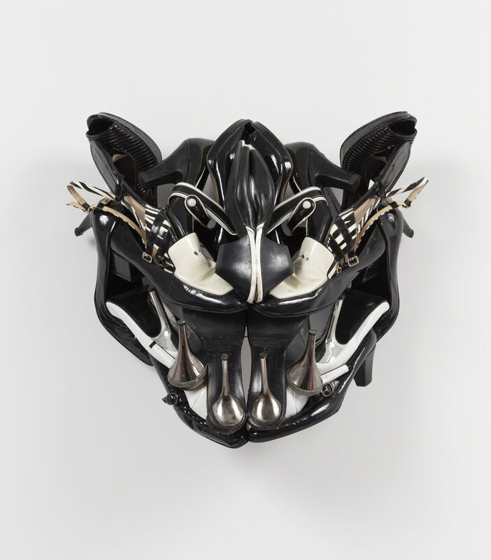 Willie Cole, 'The Smile that Bites (TSTB)', 2018, Sculpture, Shoes, wire, and screws, Alexander and Bonin
