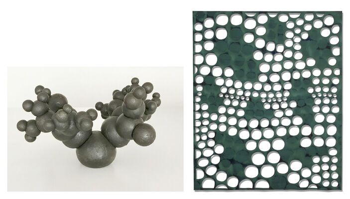 John Crawford Sculpture & Eva Faye Paintings, installation view