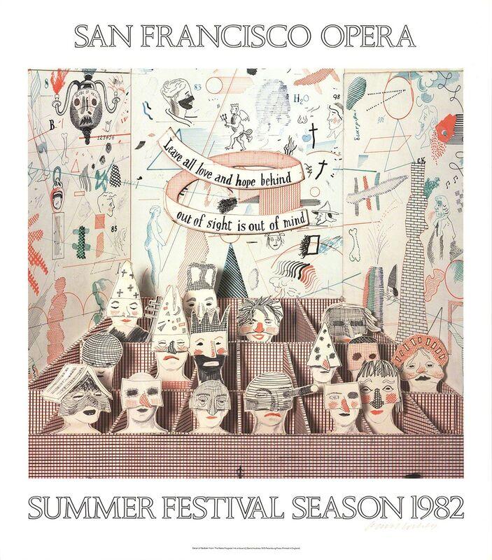 David Hockney, 'San Francisco Opera', 1982, Print, Offset Lithograph, ArtWise