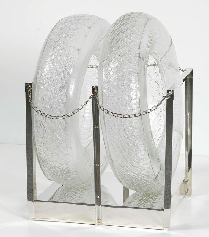 Robert Rauschenberg, 'Untitled [glass tires]', 1997, Blown glass and silver-plated brass, Robert Rauschenberg Foundation