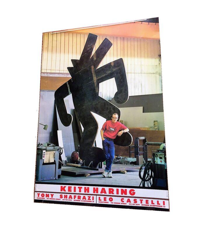 "Keith Haring, '""Keith Haring"", 1985, Exhibition Poster/Invite, Tony Shafrazi Gallery NYC', 1985, Ephemera or Merchandise, Lithograph on gloss paper, VINCE fine arts/ephemera"