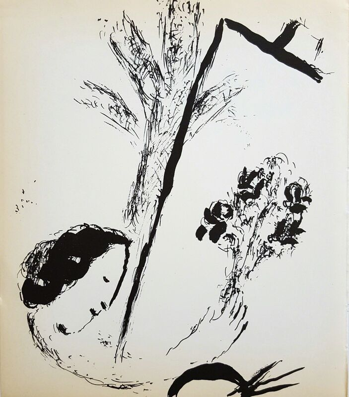 Marc Chagall, 'Bouquet with Hand', 1957, Print, Lithograph, Graves International Art