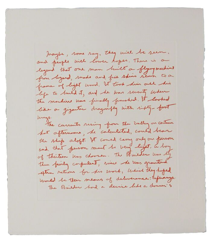 Keith Haring, 'The Valley', 1989, Print, Etching from the portfolio of sixteen, along with a page of text by William S. Burroughs on white, 160 lb. 100% cotton paper, Rago/Wright