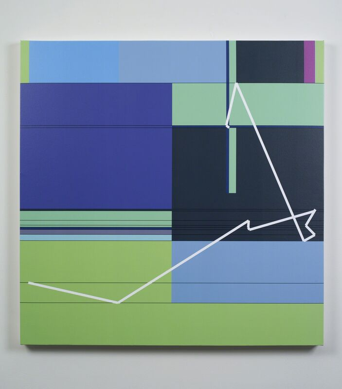 Manfred Mohr, 'P1611_10', 2012, Painting, Pigment ink on canvas, bitforms gallery