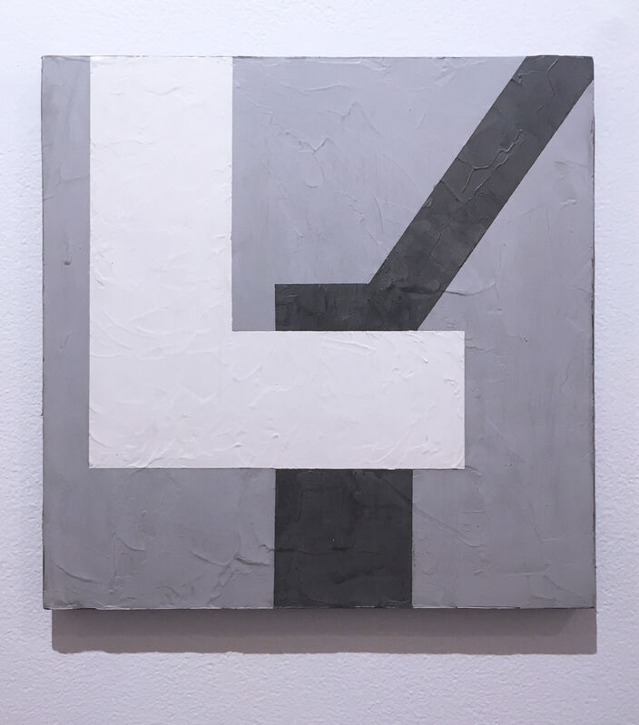 Kati Vilim, 'Balancing I', 2019, Painting, Plaster and acrylic on wood panel, Deep Space Gallery