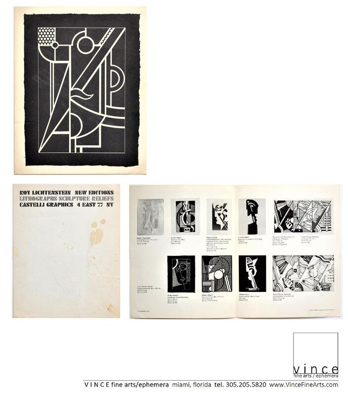 "Roy Lichtenstein, '""New Editions, Lithographs, Sculpture Reliefs"", Invitation/Mailer, Leo Castelli Gallery NYC', 1970, Ephemera or Merchandise, Lithograph on cardstock, VINCE fine arts/ephemera"