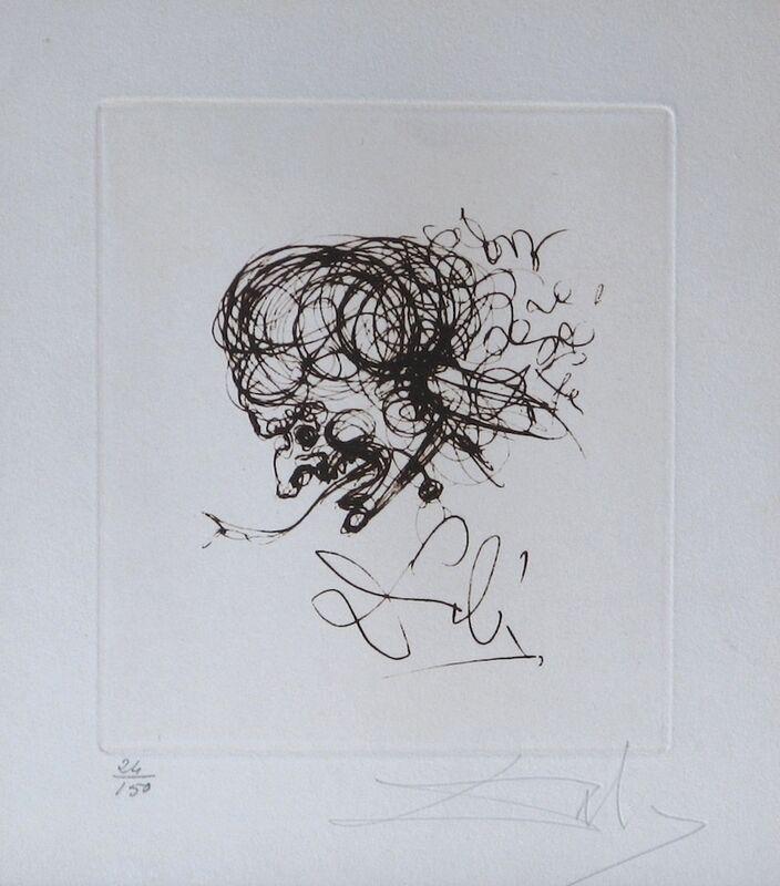 Salvador Dalí, 'Symbols Devil', 1970, Print, Etching, Fine Art Acquisitions Dali