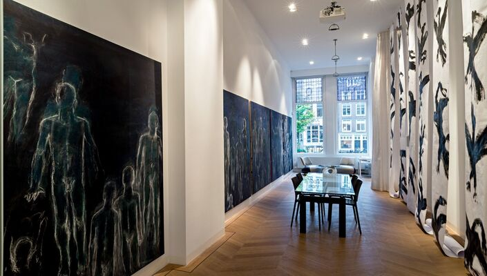 Judit Reigl: Late Paintings and Drawings, installation view