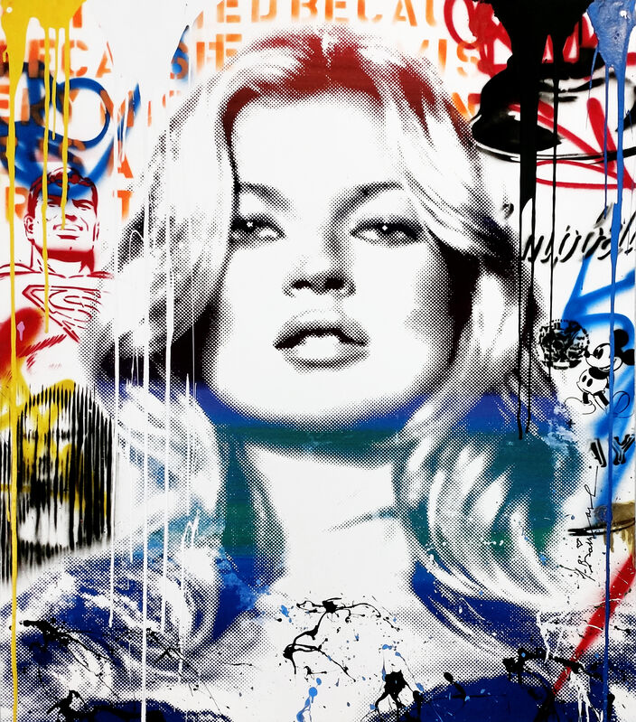 Mr. Brainwash, 'KATE MOSS', 2016, Painting, SILKSCREEN AND MIXED MEDIA ON PAPER, Gallery Art