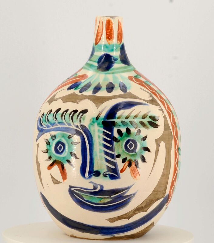 Pablo Picasso, 'Laughing-eyed-face', 1969, Design/Decorative Art, White earthenware clay, polychromed and partially glazed, Van Ham