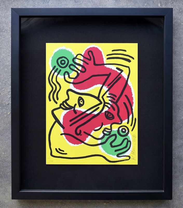 Keith Haring, 'International Volunteer Day', 1988, Print, Lithograph on Arches rag paper, Joseph Fine Art LONDON