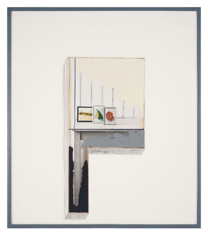 Ger van Elk, 'Study for Cross I', 1988, Photography, Paint, pencil on photograph, Galerie Bob van Orsouw