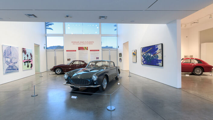 FERRARI AND FUTURISTS: AN ITALIAN LOOK AT SPEED, installation view