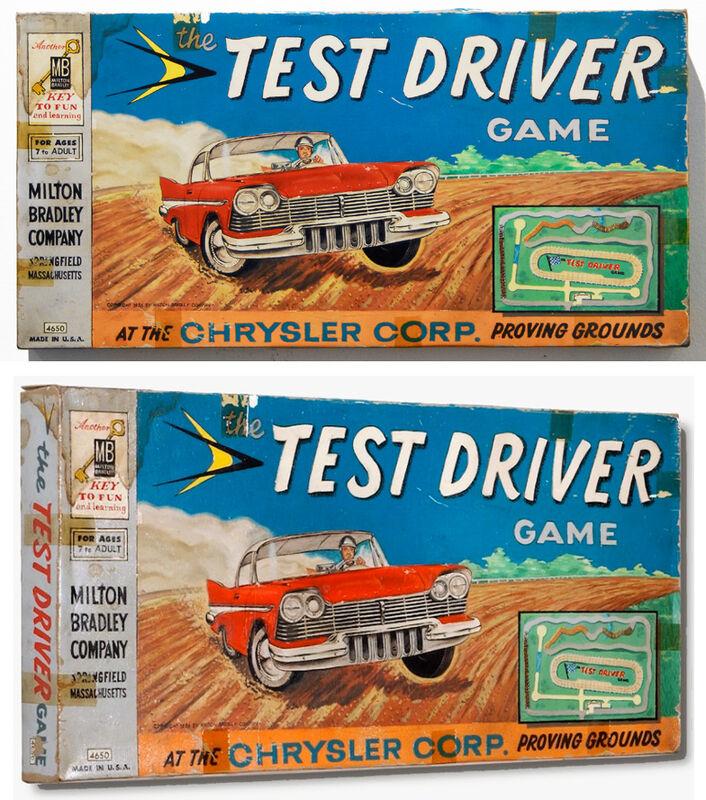 Tim Liddy, 'circa 1956 Test Driver', 2010, Mixed Media, Oil & enamel on copper, Clark Gallery