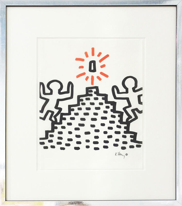 Keith Haring, 'Heading for the prize', ca. 1982, Print, Screen print on transparent Japanese paper, Galerie Kellermann