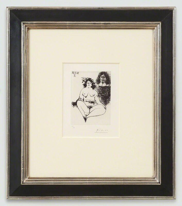 Pablo Picasso, 'Grosse Prostituée et Mousquetaire, 21.6.68 II', 1968, Print, Sugar lift aquatint on vélin de Rives paper, Cristea Roberts Gallery