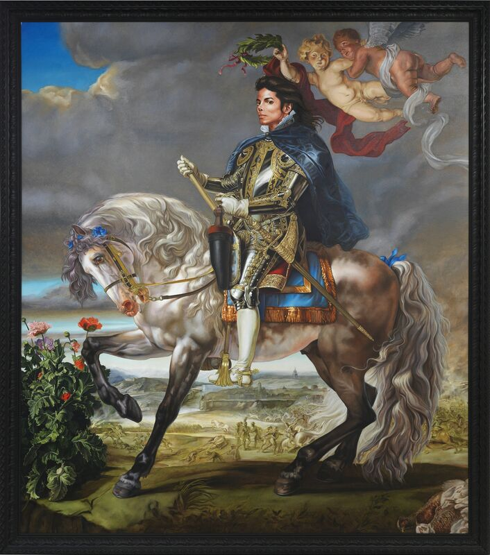 Kehinde Wiley, 'Equestrian Portrait of King Philip II (Michael Jackson)', 2009, Painting, Oil on canvas, Seattle Art Museum