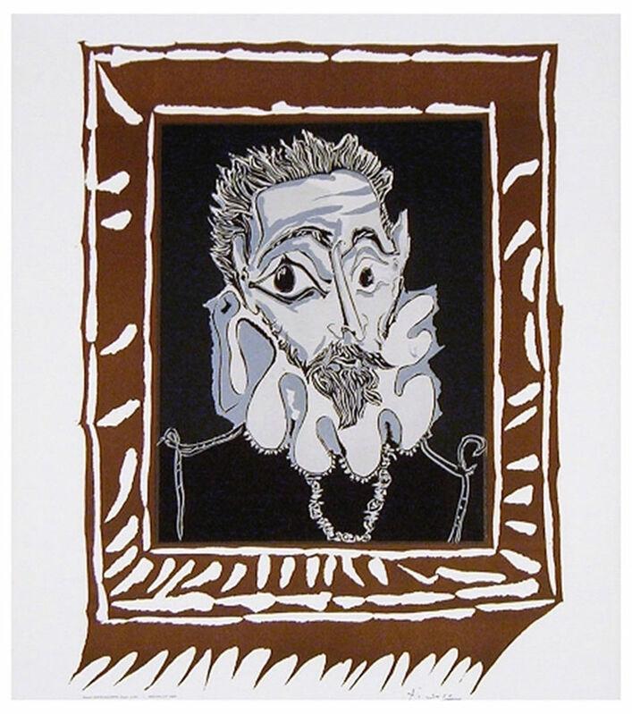 Pablo Picasso, 'L'Homme à la Fraise (Man with Ruff)', 1963, Print, Lithograph in colors on Arches paper, michael lisi / contemporary art
