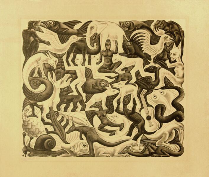 Maurits Cornelis Escher, 'Mosaic II', 1957