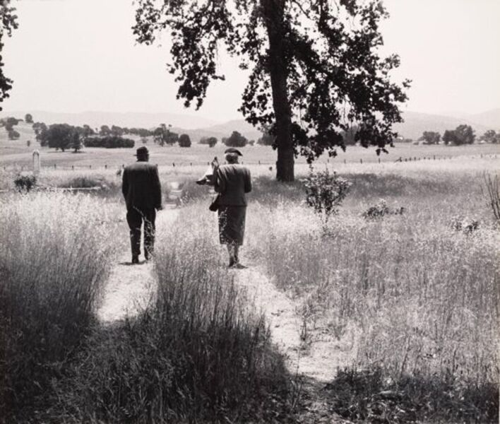 Pirkle Jones, 'Couple at the Cemetery, from the Back, Berryessa Valley, from the series, Death of a Valley', 1956-printed 1960
