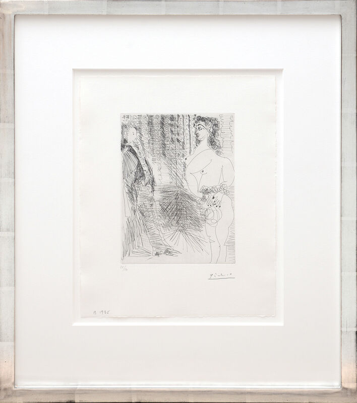 Pablo Picasso, 'Le Cabinet Particulier. Degas et Une Fille.', 1935, Print, Drypoint etching on BFK Rives wove paper, Peter Harrington Gallery