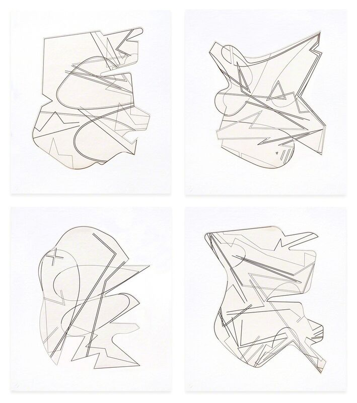 Michael Heizer, 'Hard Edge Etchings', 2016, Print, Shaped Plate Etching with Aquatint, Durham Press, Inc.