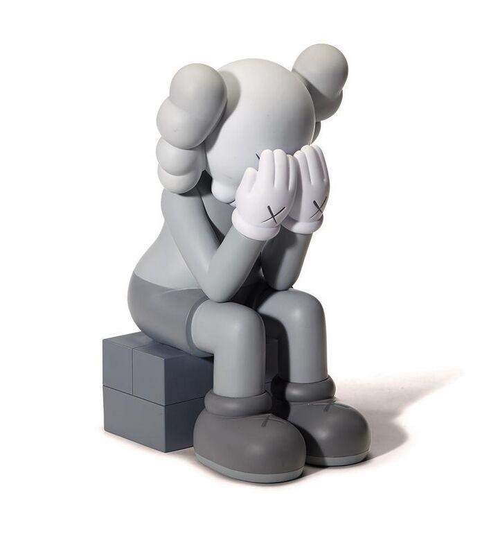 KAWS, 'PASSING THROUGH GREY (OPEN EDITION)', 2018, Sculpture, Vinyl, Paint, Marcel Katz Art
