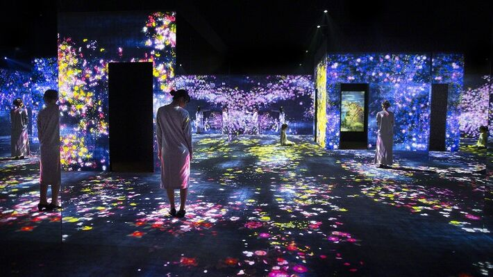 teamLab: Living Digital Forest and Future Park, installation view