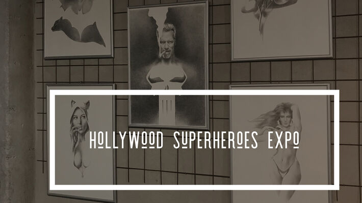Hollywood Superheroes, installation view