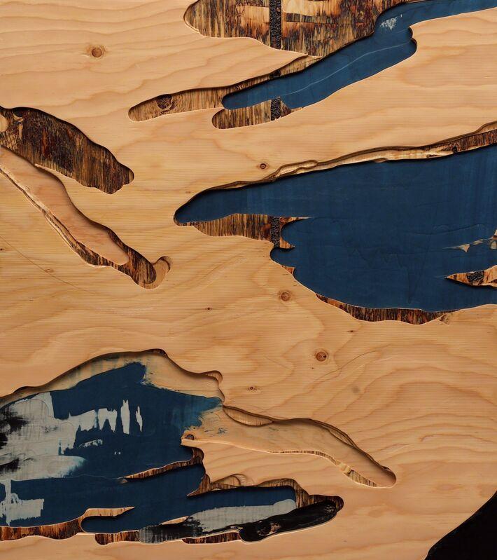 Yechel Gagnon, 'Shallows of Far Seas', 2017, Sculpture, Carved Custom-Made Plywood of Tinted Veneers, Newzones
