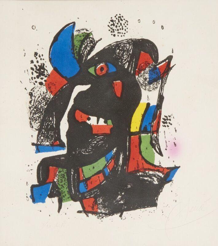 Joan Miró, 'Plate III, Joan Miró Lithographe IV [Mourlot 1257]', 1981, Print, Lithograph in colours on wove, Roseberys