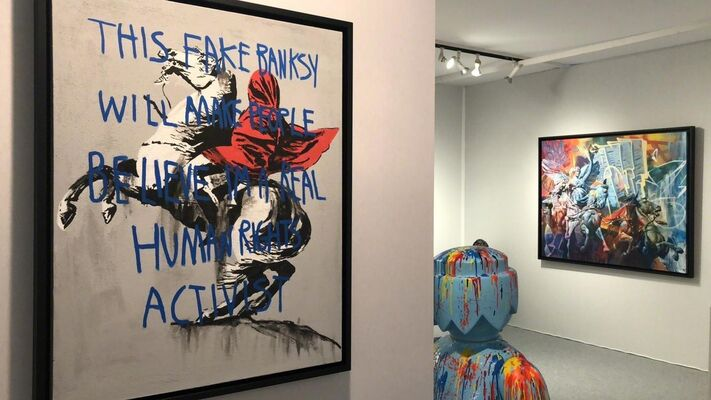 NextStreet Gallery at Paris Art Elysées Art Fair, installation view