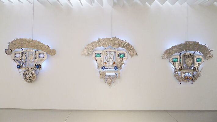 ALFREDO AND ISABEL AQUILIZAN IN GOD WE TRUST: PROJECT ANOTHER COUNTRY, installation view