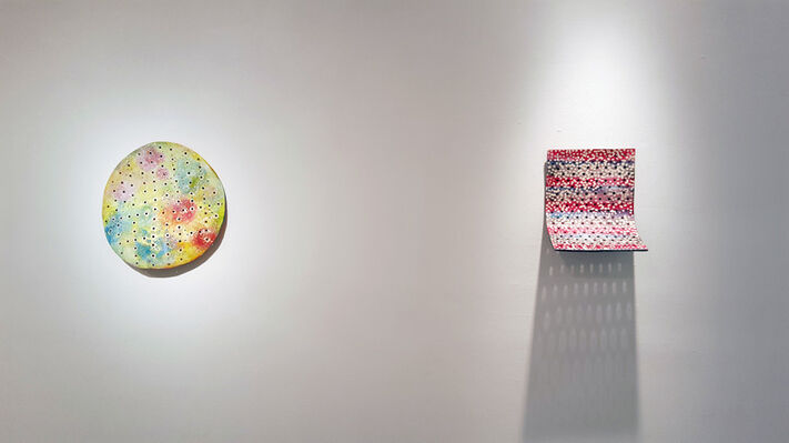 Joyce Robins - Clay and Paint, installation view