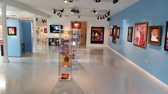 Peter Max Exhibition: Celebrating Life In Color, installation view