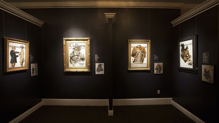 America, Illustrated - Six Decades of Saturday Evening Post Covers, installation view
