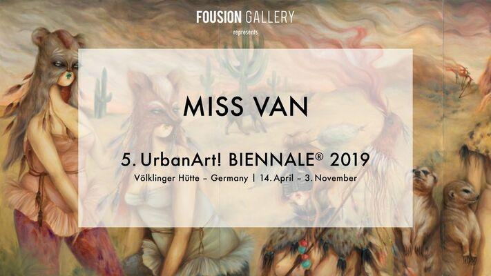 Fousion Gallery at UrbanArt Biennale 2019 Unlimited, installation view