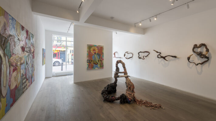 """Gresham Tapiwa Nyaude & Takunda Regis Billiat """"KUBATANA"""", installation view"""