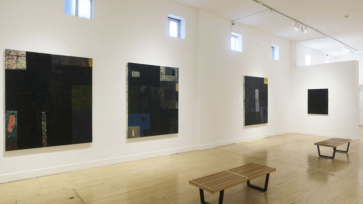 The Black Paintings, installation view