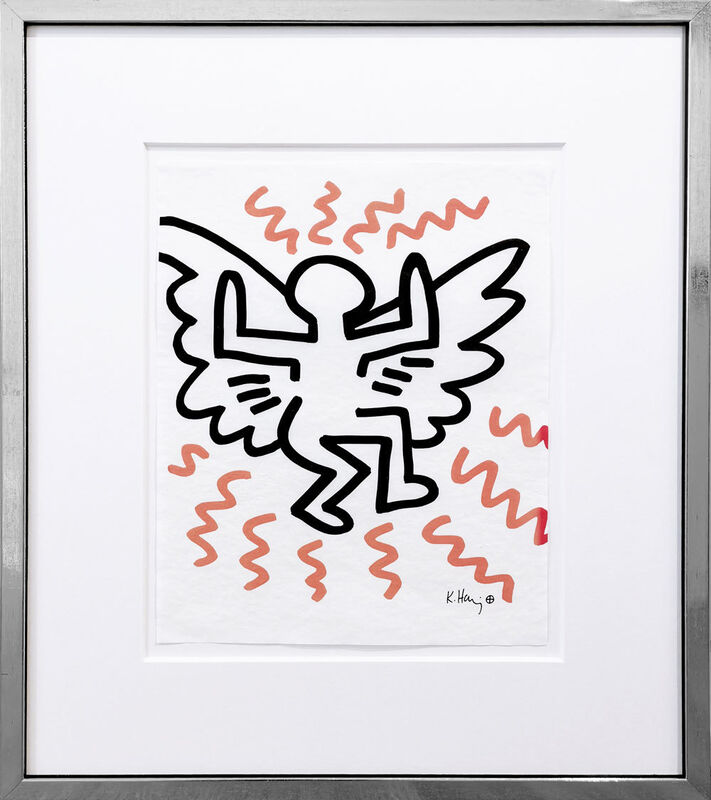 Keith Haring, 'Angel', 1982, Print, Silkscreen on transparent paper, Galerie Kellermann