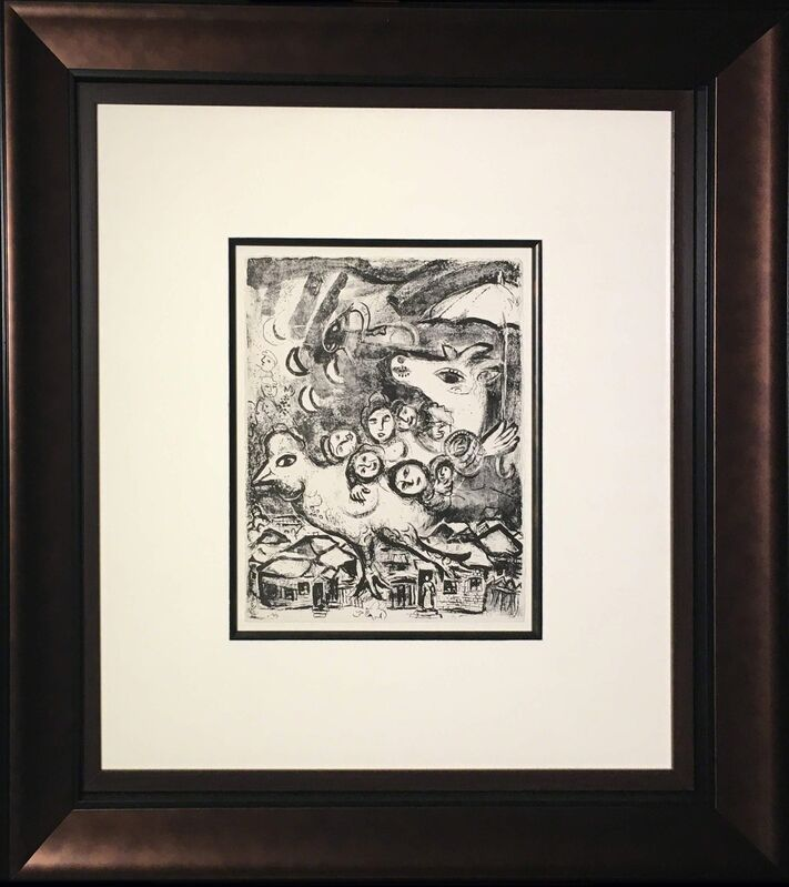 Marc Chagall, 'In Paris', 1967, Print, Lithograph printed in black and white on Arches paper, Baterbys