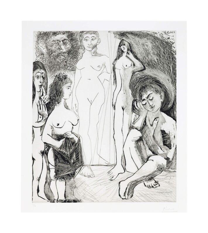 Pablo Picasso, 'Jeune garçon rêvant: les femmes!, from La Série 347', 1968, Print, Etching on Rives paper, Christie's