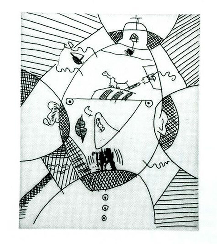 Keith Haring, 'Untitled (with Sean Kalish) H', 1989, Print, Etching on paper, Taglialatella Galleries