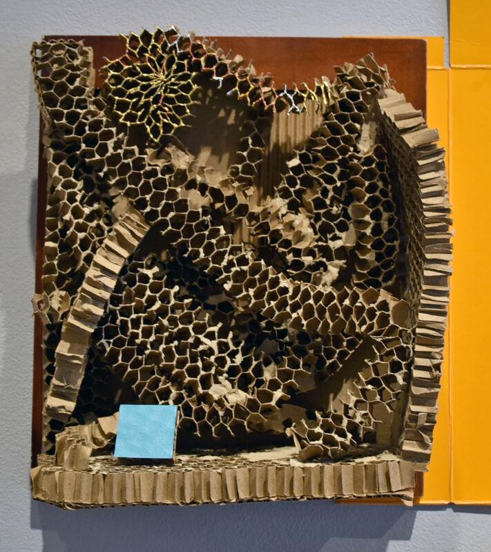 Elisabeth Jacobsen, 'Cathedral ', 2020, Sculpture, Honeycomb Cardboard, Polyacrylic, Wood, Carter Burden Gallery