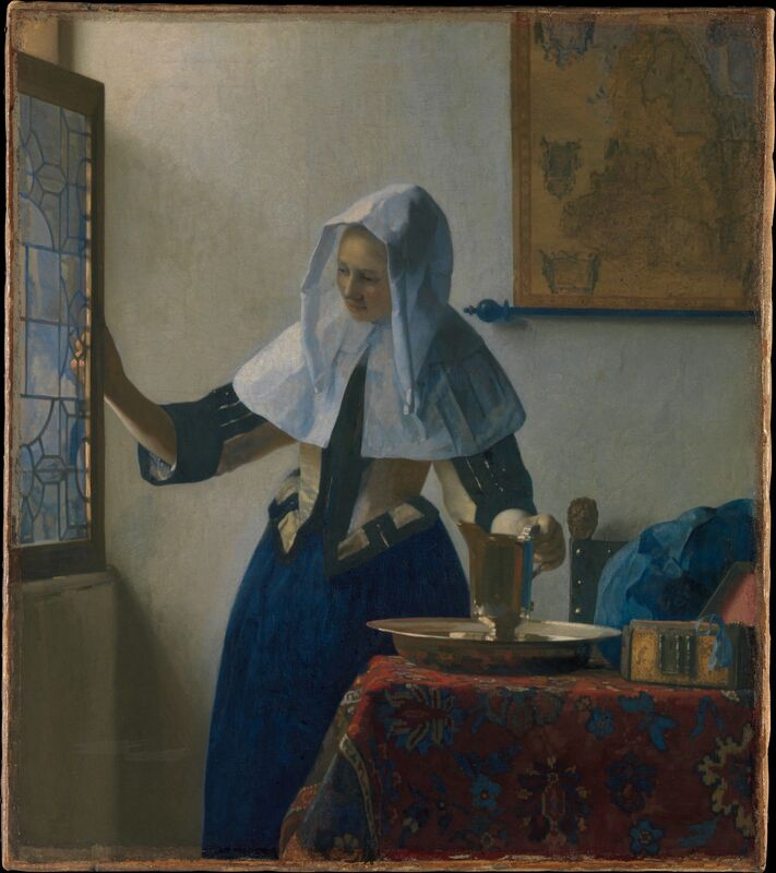 Johannes Vermeer, 'Young Woman with a Water Pitcher', ca. 1662, Painting, Oil on canvas, The Metropolitan Museum of Art