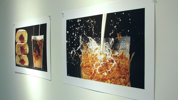 FOOD:   Paintings  &  Photographs, installation view
