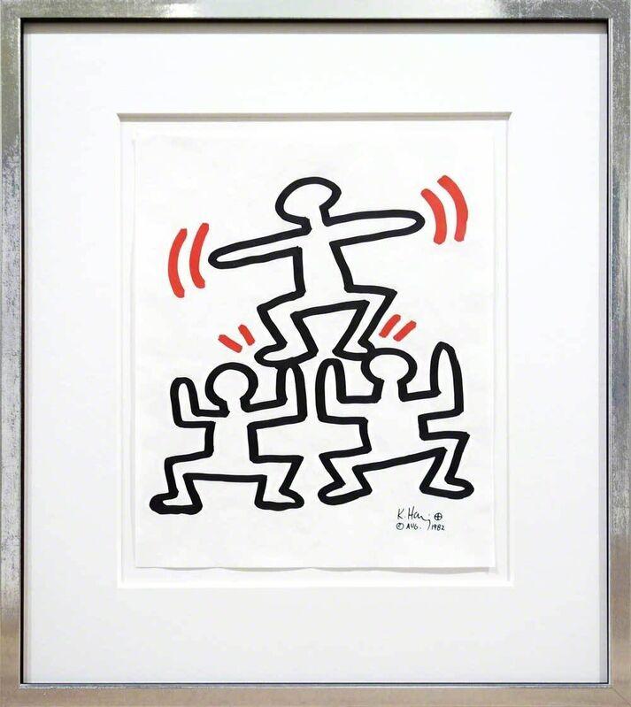 Keith Haring, 'Winner', 1982, Print, Screenprint on tracing paper, Galerie Kellermann